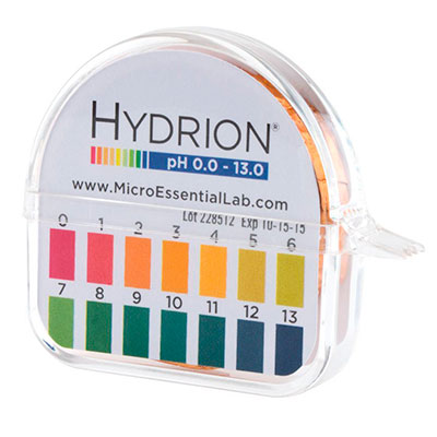 Aquarium pH paper testing kit