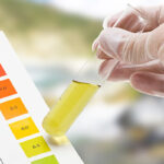 Measuring the pH of fish tank with a pH test kit
