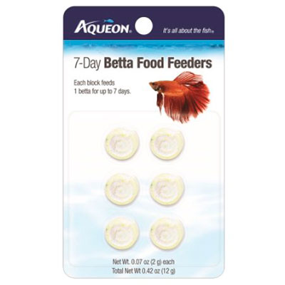 Aqueon 7 day betta food feeder slow release fish food