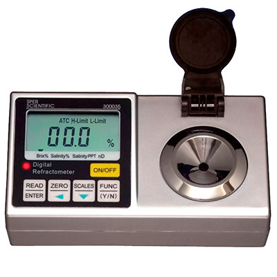 Digital refractometer to test aquarium salinity