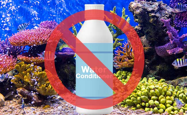 Dont use water conditioner in a salt water aquarium or reef tank