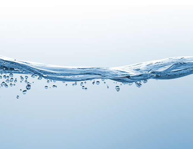 Water with low levels of oxygen