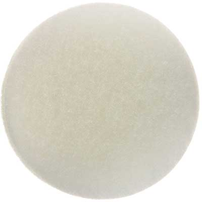 Round filter pad for mechanical filtration