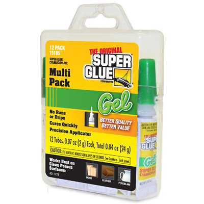 12 tubes of super glue gel for use in an aquarium