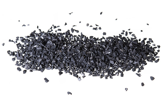 Activated carbon made from Bituminous gravel for aquarium filters