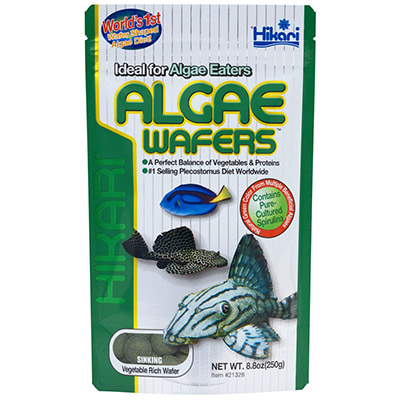 Large algae wafer fish food for bottom feeding fish