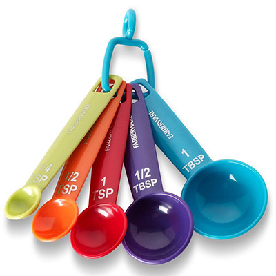 Plastic measuring spoons for aquarium