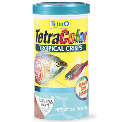 Tetra color tropical crisps fish food