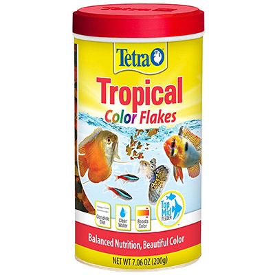 Tetra tropical color flakes fish food