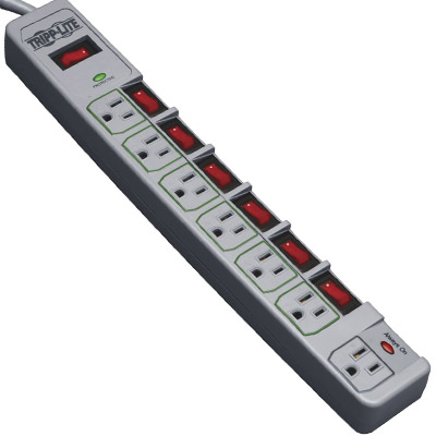 Tripp Lite 7 outlet power strip for aquarium equipment