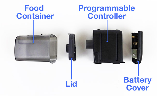 Eheim battery operated auto fish feeder parts diagram
