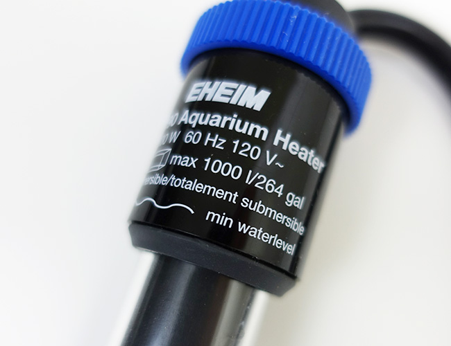 Eheim Jager TruTemp aquarium heater minimum water level indicator