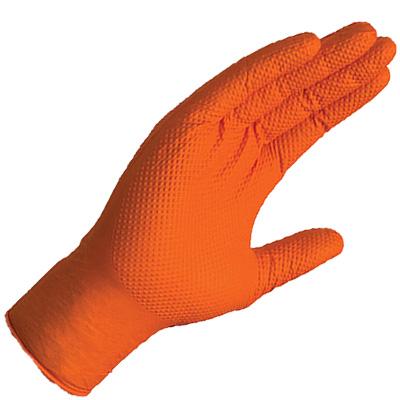 Gloveworks HD orange nitrile gloves