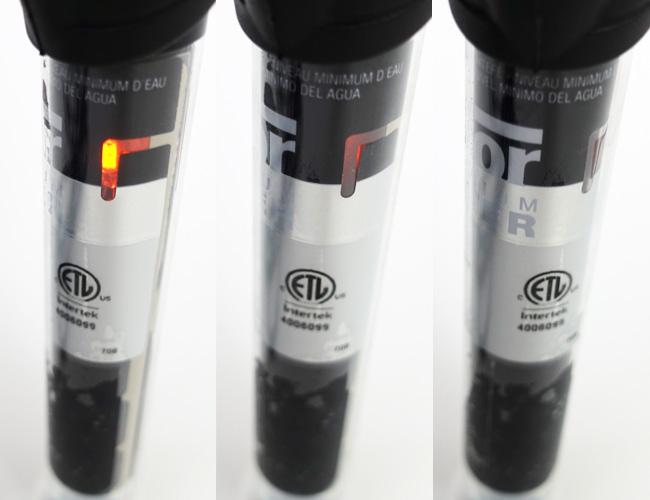 Hydor Theo aquarium heater indicator light visibility