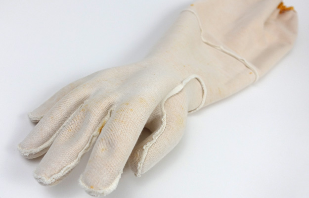 Showa 772 cotton lining of aquarium glove turned inside out