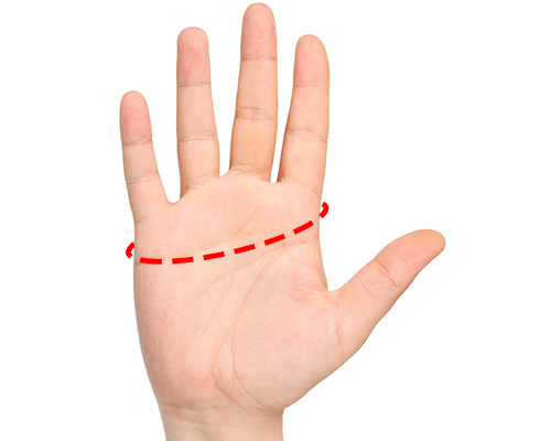 Measuring your hand to find the right fitting aquarium glove
