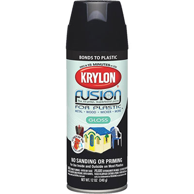 A can of Krylon Fusion Spray Paint commonly used in aquariums