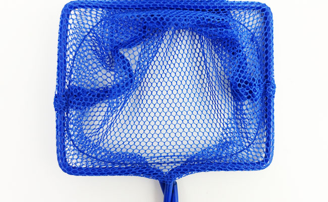 Coarse aquarium net mesh with large holes close up photo