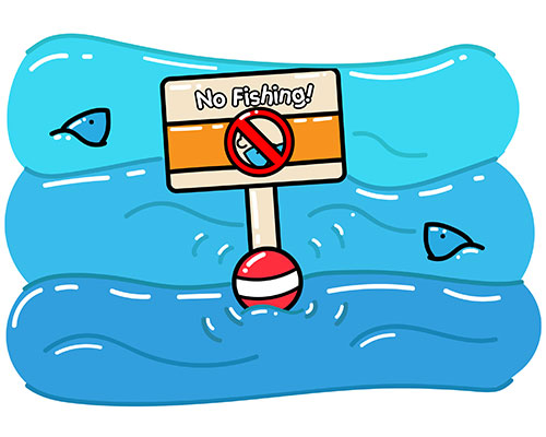 No fishing zone in middle of ocean