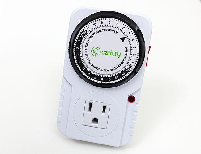 Century 24-Hour Plug-in Mechanical Aquarium Timer