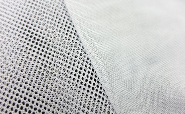 Mesh size of a fine and coarse filter media bag close-up