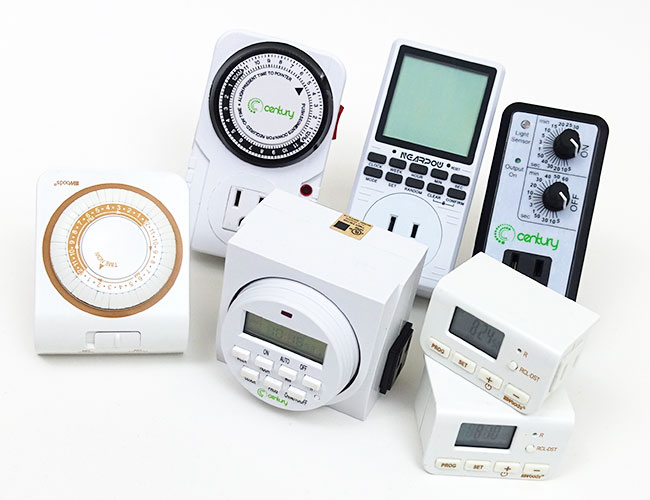 Some of the plug-in timers we tested and reviewed for our aquarium