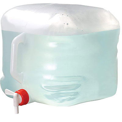 Coghlan 5-gallon collapsible water container for water changes when power cuts out