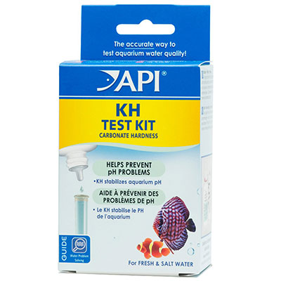 Aquarium test kit used to measure the carbonate hardness (KH) of fish tank