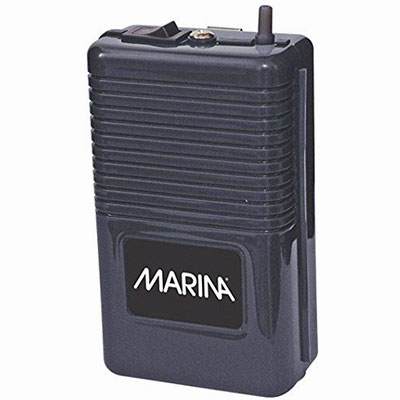 Best battery-operated aquarium air pump - Marina 11134