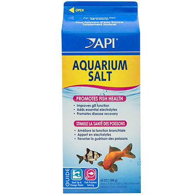 Aquarium salt used to remedy Ich in aquarium fish
