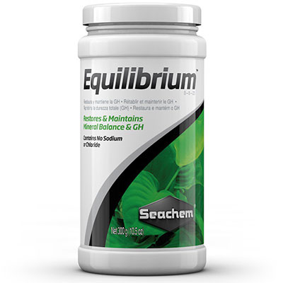 Seachem Equilibrium used for raising water hardness GH in aquarium