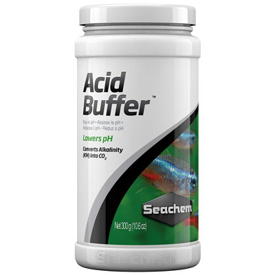 Seachem acid buffer for lowering KH in aquarium